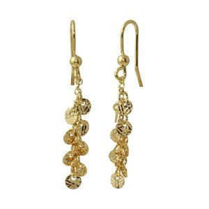 Silver 925 Gold Plated Dangling Confetti Earrings